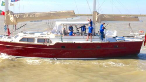 23.-El Pros en navegacion por el Guadalquivir 1
